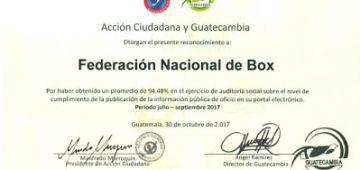 Estamos cumpliendo y haciendo bien las cosas por el Boxeo Guatemalteco.